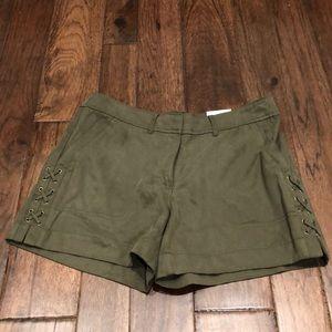 White House Black Market Olive Size 6 Twill Shorts